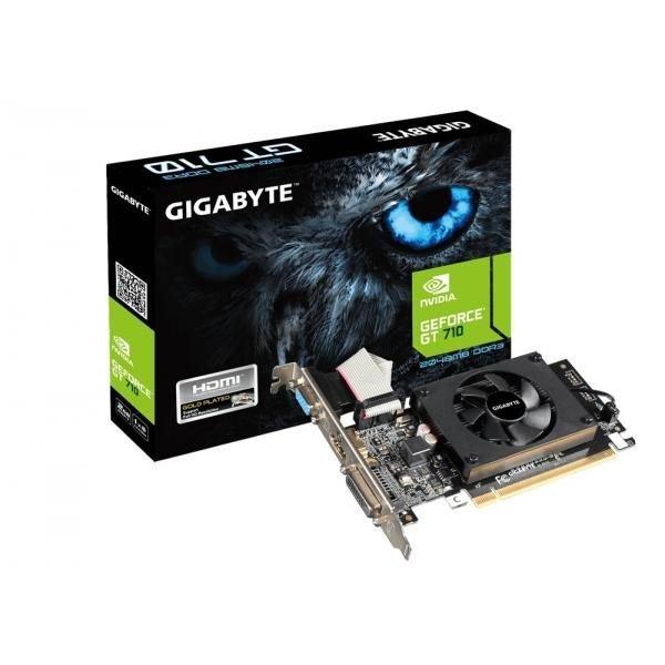 GIGABYTE GRAPHICS CARD GT 710 2GB DDR3 (GV-N710D3-2GL)